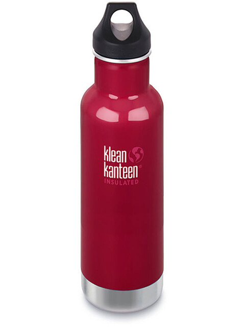 Klean Kanteen Classic Bottle Vacuum Insulated 592 ml w/ Loop Cap Beet Root